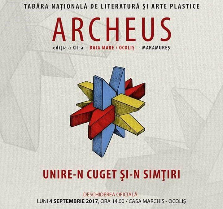 Premiile Taberei Naționale de Literatură și Arte Plastice ARCHEUS 2017