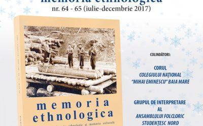 Lansarea Revistei MEMORIA ETHNOLOGICA
