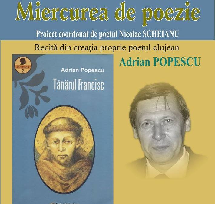 Adrian Popescu la Miercurea de poezie